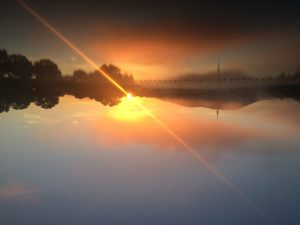 Morning sunrise over Lake Burley Griffin