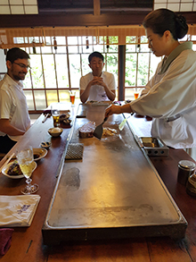 Traditional lunch with Ken Ohori and Jin Ohori, Gifu city (photo credit: Caroline N. Mayer)