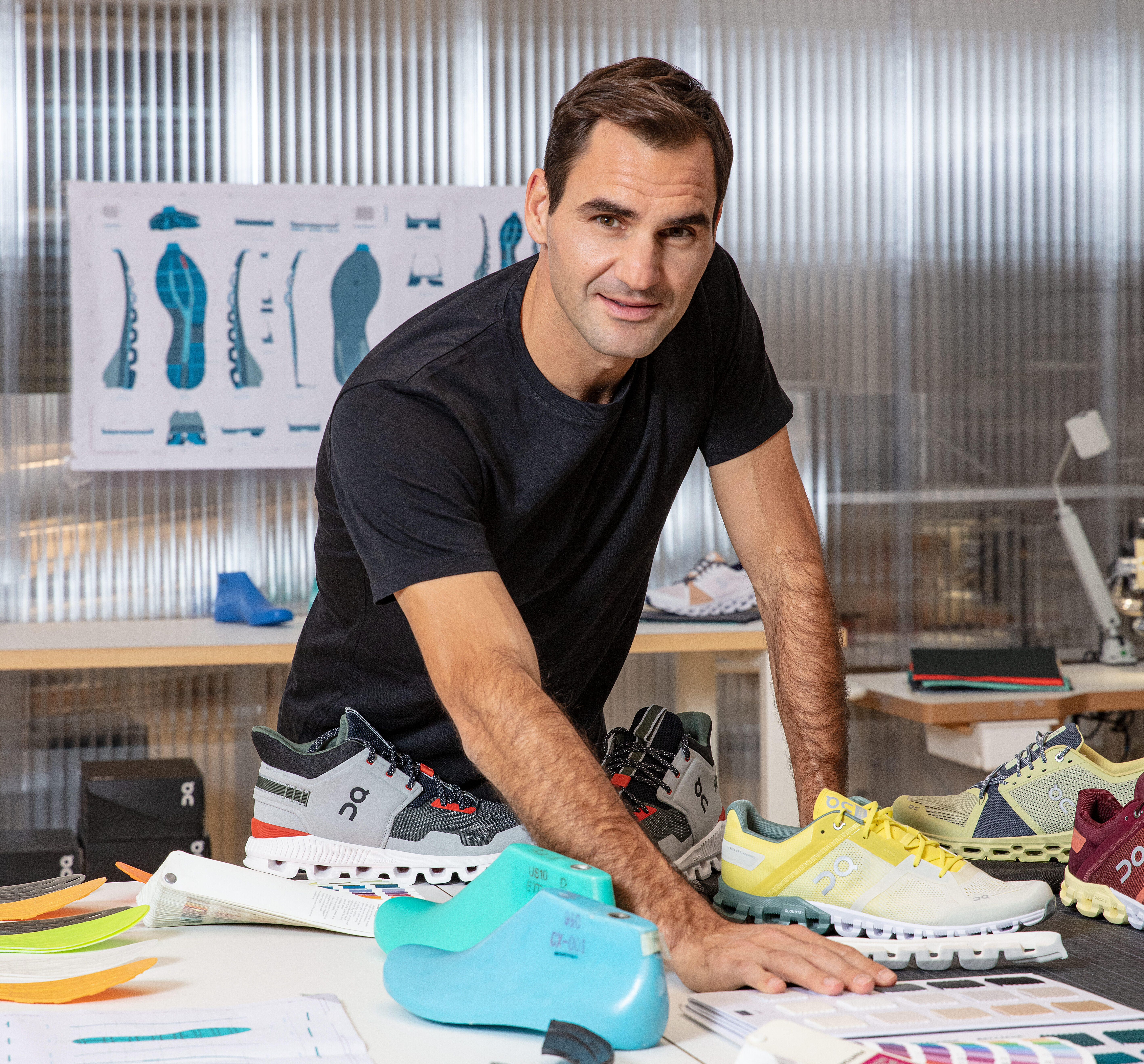 Roger Federer has become a running shoe