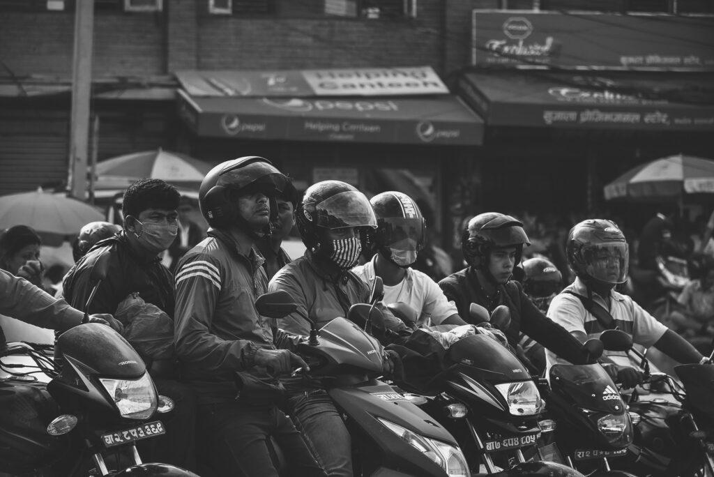 Motorcycles in Kathmandu