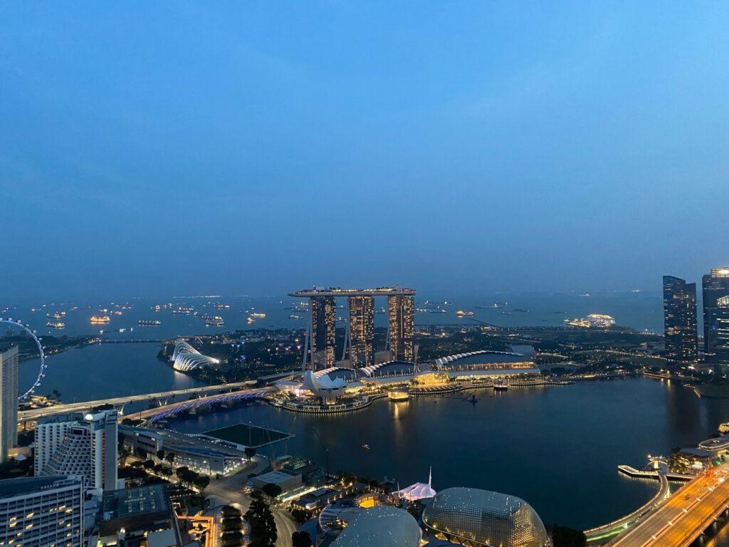 Sunset at the Marina Bay
