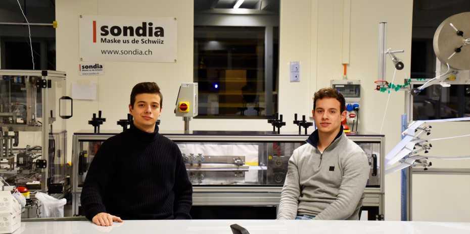 Rafael (left) and Gabriel (right) Sonderegger, founders of Sondia