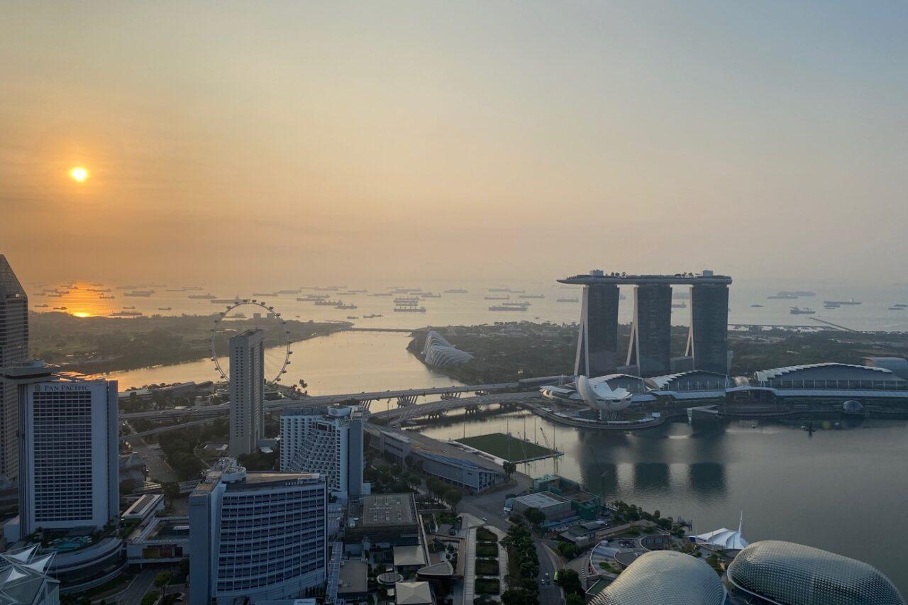 Sunrise over Marina Bay