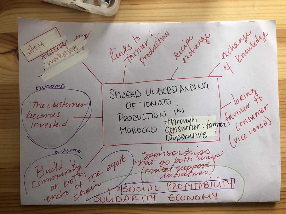 mindmap about tomato production in Morocco