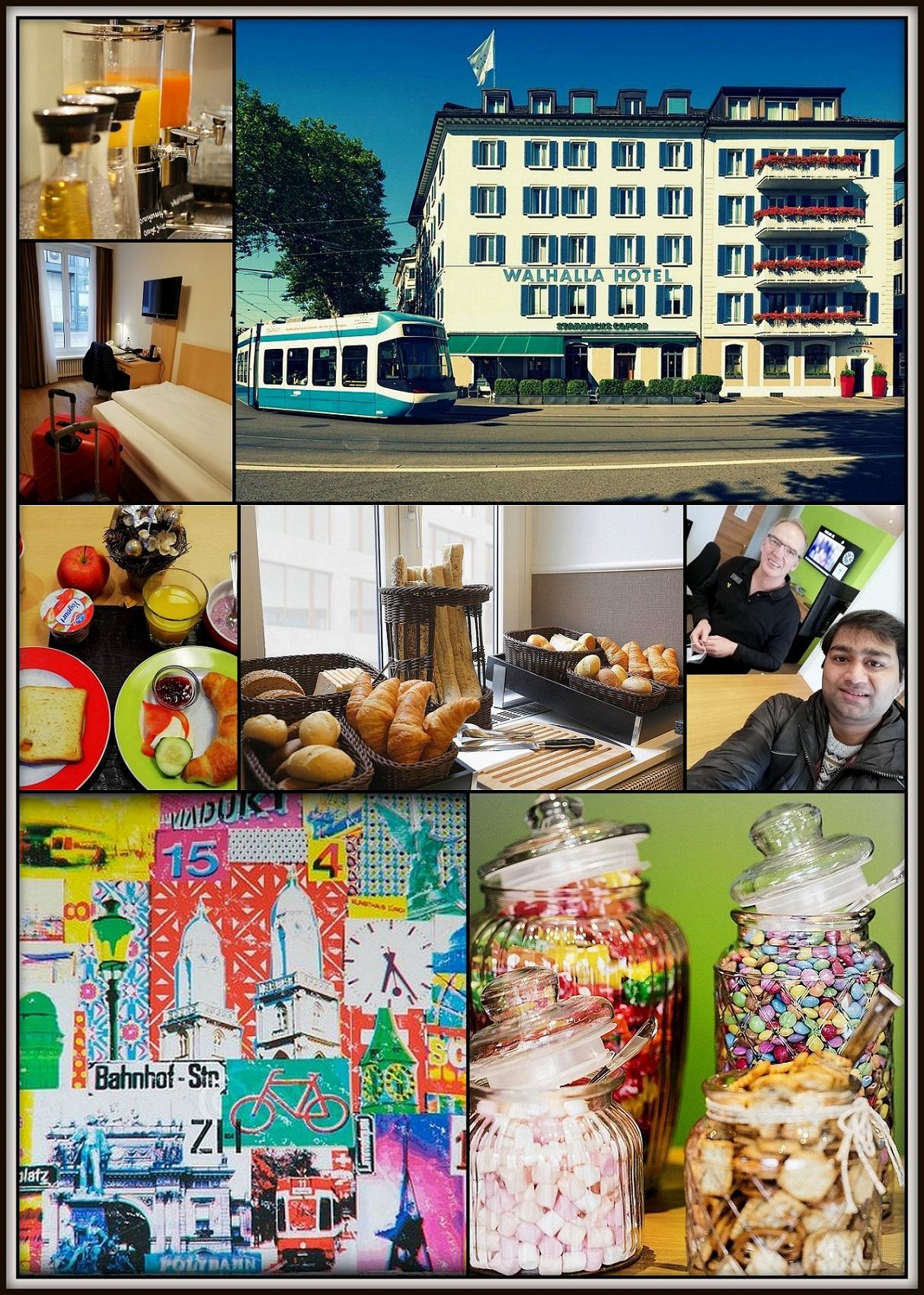 Collage of Walhalla Hotel in Zurich