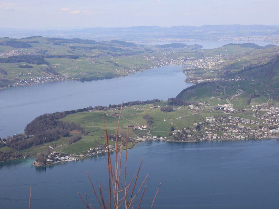 View of lakes in Switzerland