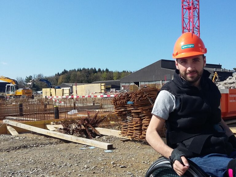 Florian Hauser at his workplace as a site manager.