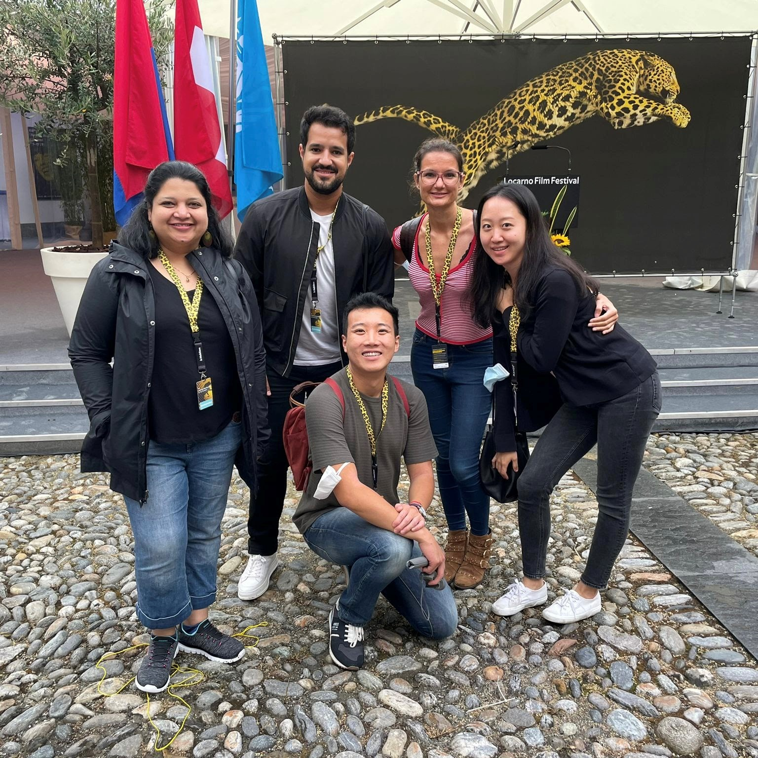 Authors in front of the Locarno Film Festival ad